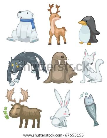 cartoon animal icon - stock vector