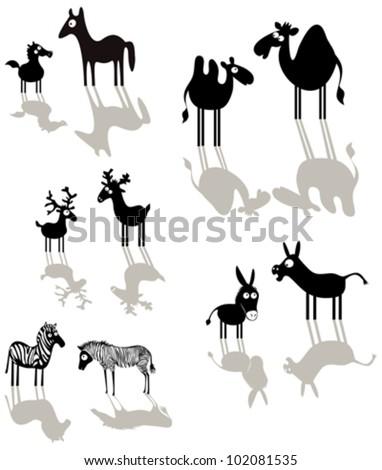 Cartoon animals - stock vector