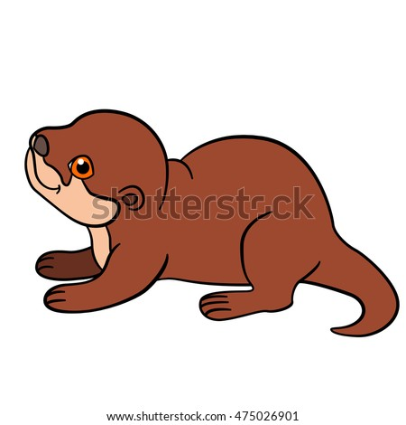 baby otter stock photos royaltyfree images amp vectors