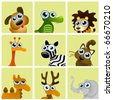 cartoon animals vector - stock vector