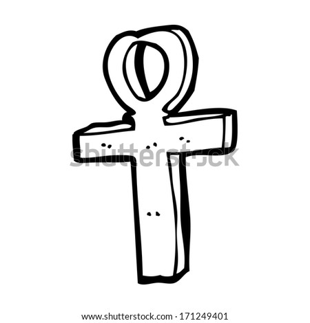 Cartoon Ankh Symbol Stock Vector 210232351 Shutterstock