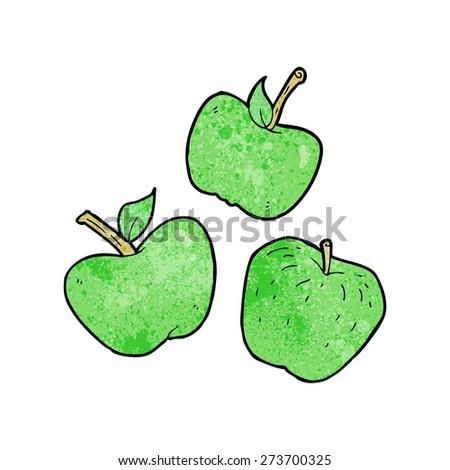 cartoon apples, - stock vector