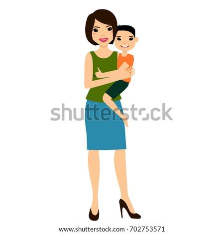 Asian mom daughter