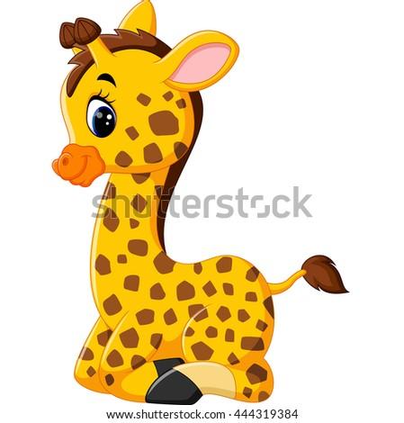 cartoon baby giraffe sitting stock photo photo vector rh shutterstock com cartoon baby giraffe drawing cartoon baby giraffe drawing