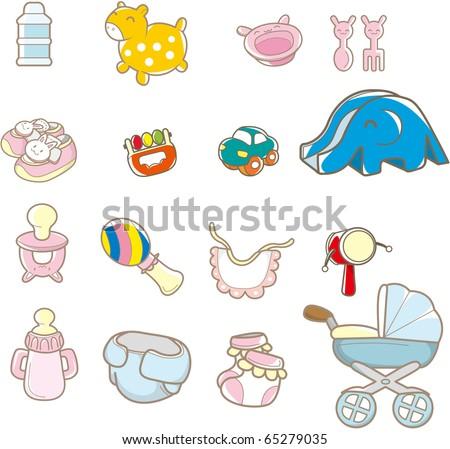 cartoon baby thing - stock vector