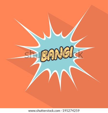 Cartoon bang. Design element for the site. Vector illustration - stock vector