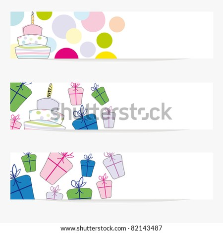 Cartoon banners on special day - stock vector