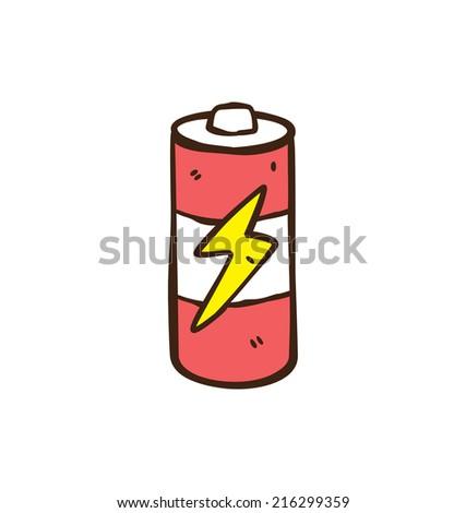 cartoon battery - stock vector