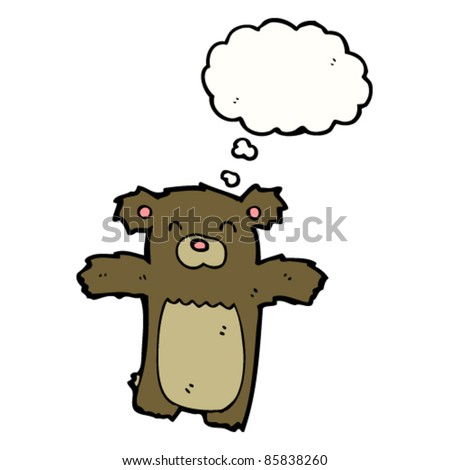 cartoon bear with thought bubble