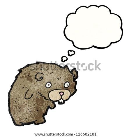 cartoon beaver - stock vector