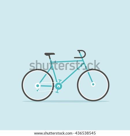 cartoon bicycle - stock vector