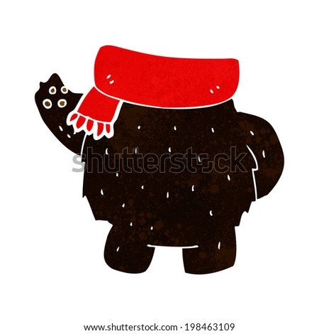 cartoon black bear body (mix and match or add own photos)