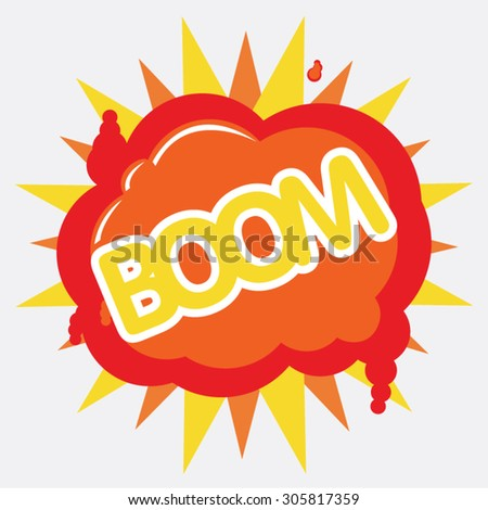 cartoon - boom (Comic book explosion) - stock vector