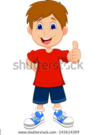 cartoon boy giving you thumbs up - Cartoon Picture Of Child
