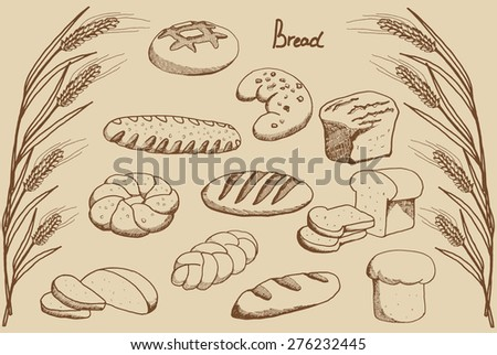 cartoon bread on a neutral background