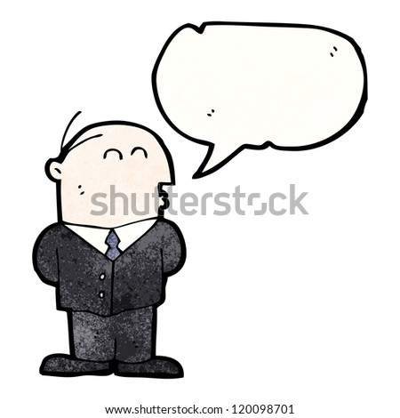 cartoon businessman - stock vector