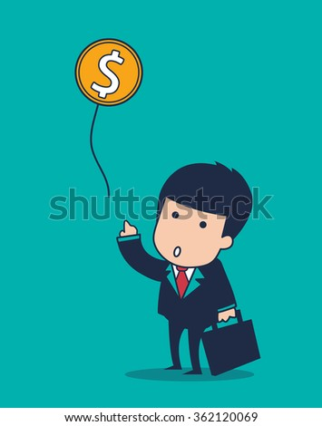 cartoon businessman balloon