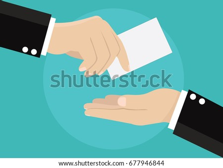 Cartoon businessman giving business card vector stock vector cartoon businessman giving business card vector stock vector 677946844 shutterstock colourmoves Image collections