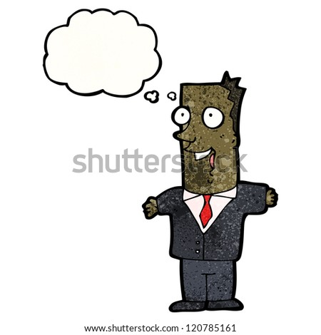 cartoon businessman in suit