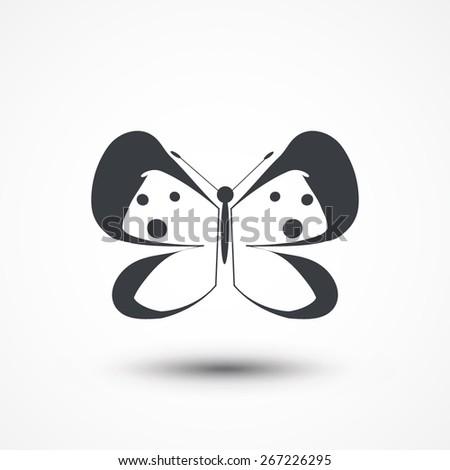 Cartoon butterfly icon. - stock vector