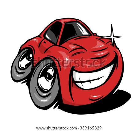 Cartoon car - stock vector