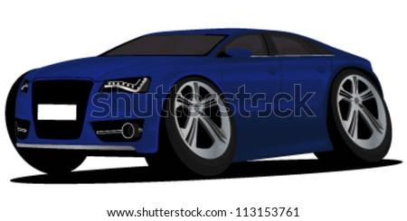 cartoon car vector illustration - stock vector