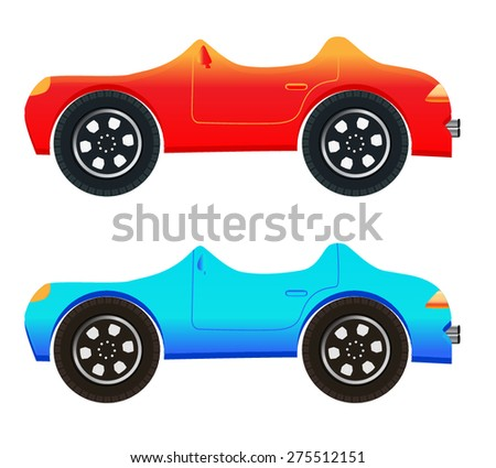 Cartoon Cars - stock vector
