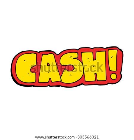 cartoon cash symbol - stock vector