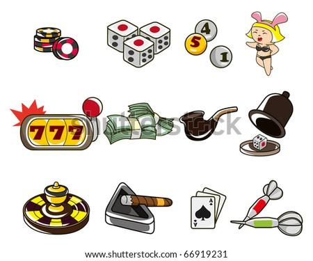 cartoon casino - stock vector