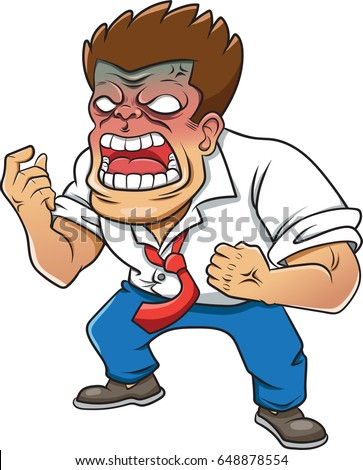 cartoon character angry men on white stock vector 648878554 rh shutterstock com most angry cartoon characters angry cartoon character images