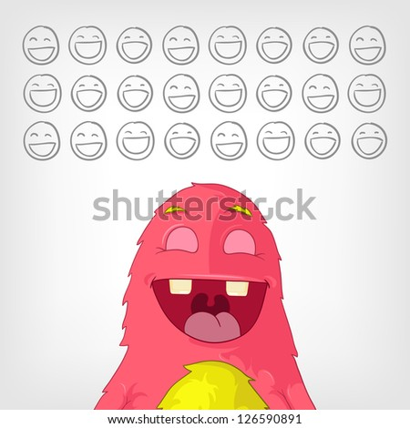 Cartoon Character Funny Monster. Vector Illustration. EPS 10. - stock vector