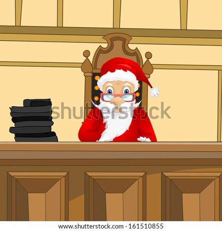 Cartoon Character Santa Claus. Vector EPS 10. - stock vector