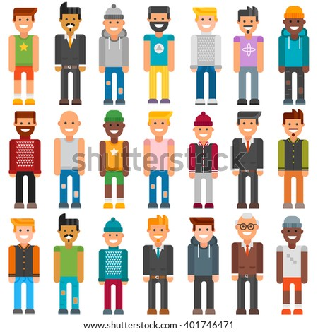 Cartoon characters face job people and cartoon characters people worker office suit. Colorful avatar characters face. Group cartoon characters people different professional manager person vector. - stock vector
