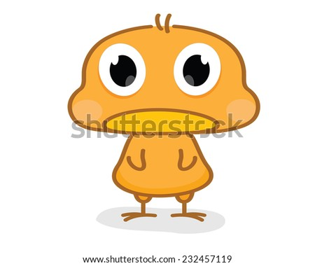 cartoon chicks - stock vector