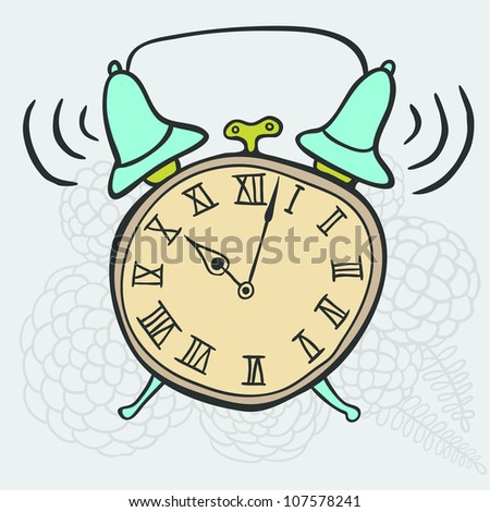 Cartoon clock - stock vector