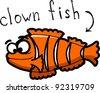Cartoon clown fish - stock vector