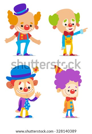 Cartoon Clowns  - stock vector