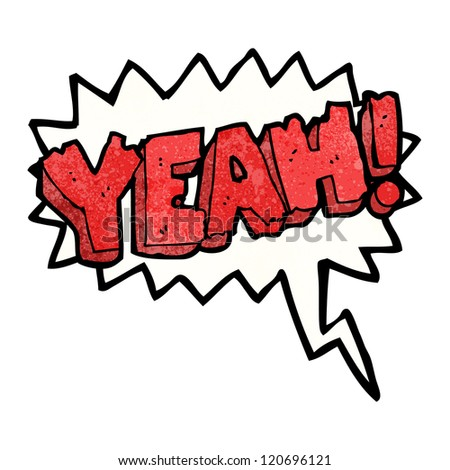 cartoon comic book shout yeah - stock vector