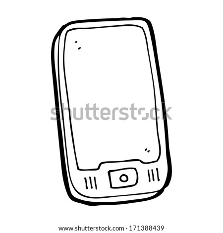 cartoon computer tablet - stock vector