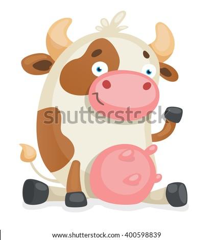 Cartoon Cow - stock vector