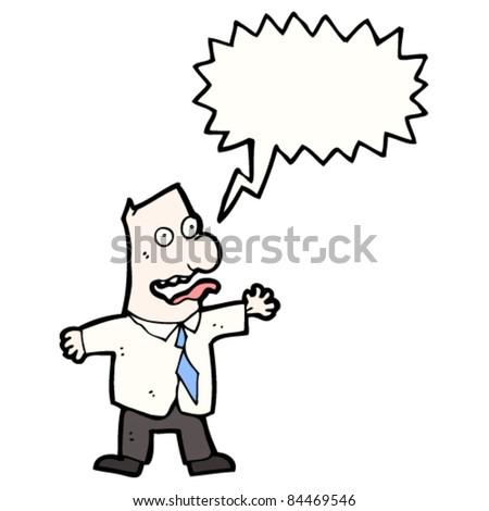 cartoon crazy businessman - stock vector