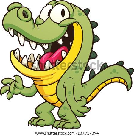 Cartoon Crocodile Vector Clip Art Illustration Stock ... - photo#44