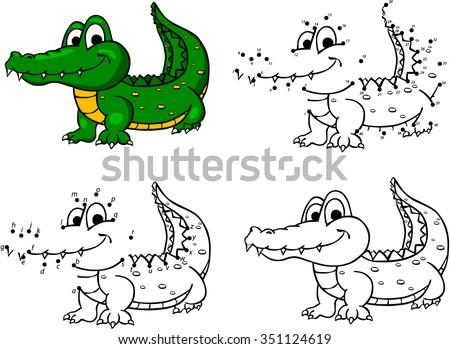 Crocodile Showing Teeth Coloring