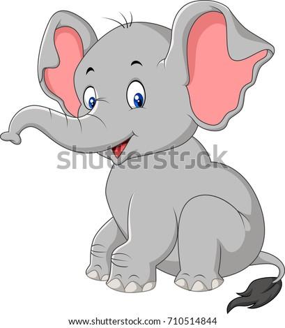 Cute Animated Baby Cartoon Elephant Wallpaper 0425