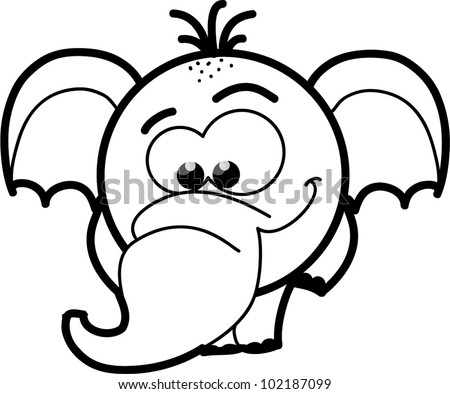 Stock Photos  Illustrations  and Vector Art similar to Image ID    Cartoon Elephant Black And White