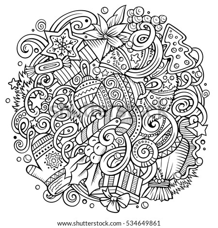 Cartoon cute doodles hand drawn new stock vector 534649861 for Coloring pages with lots of detail