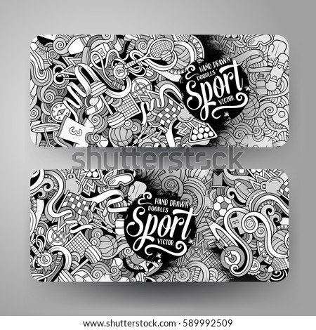 Doodle art stock images royalty free images vectors shutterstock cartoon cute line art vector hand drawn doodles sport corporate identity 2 horizontal banners design pronofoot35fo Choice Image