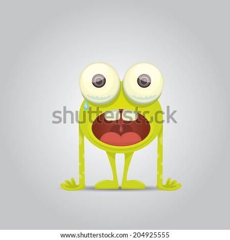 Cartoon cute monster - stock vector
