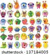 Cartoon cute monsters - stock vector