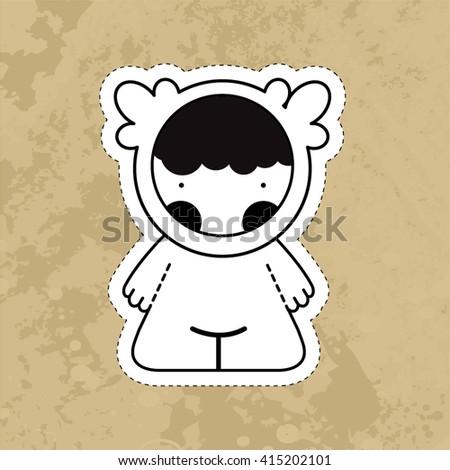 Cartoon cute monsters. Vector. EPS10 - stock vector